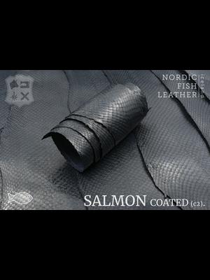 Nordic Fish Leather Zalm, gefinisht met zijdeglans, gesloten (Z17: Berg 987s)