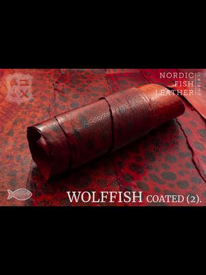 Nordic Fish Leather Gevlekte Zeewolf, gefinisht met zijdeglans (T17: Freyja 808s)