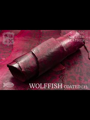 Nordic Fish Leather Gevlekte Zeewolf, gefinisht met zijdeglans (S17: Frigg 847s)