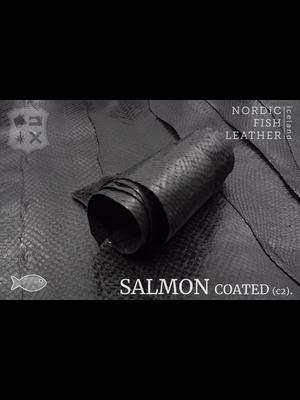Nordic Fish Leather Zalm, gefinisht met zijdeglans, gesloten (W17: Norr 912s)