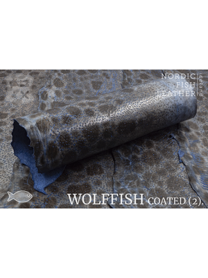 Nordic Fish Leather Gevlekte Zeewolf, gefinisht met zijdeglans (K17: Óðinn 864s)