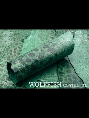 Nordic Fish Leather Gevlekte Zeewolf, gefinisht met zijdeglans (G17: Týr 806s)