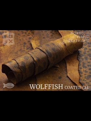 Nordic Fish Leather Gevlekte Zeewolf, gefinisht met zijdeglans (V16: Fjalar 804s)
