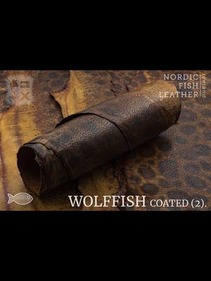 Nordic Fish Leather Gevlekte Zeewolf, gefinisht met zijdeglans (W16: Búri 803s)