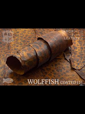 Nordic Fish Leather Gevlekte Zeewolf, gefinisht met zijdeglans (V17: Askur 848s)