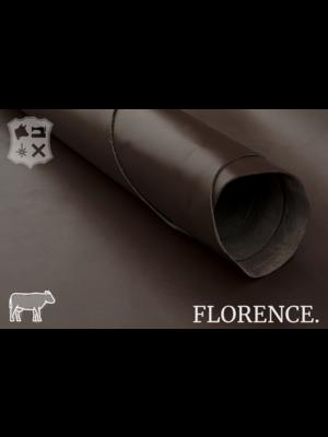 Florence Glad leder met een zijdeglans (V17: Espresso)