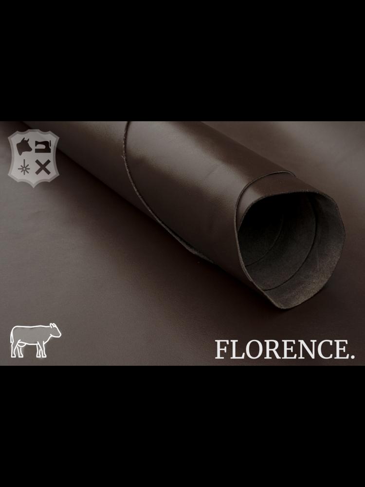 Florence Espresso - Florence collectie: Strak glad leder met een zijdeglans