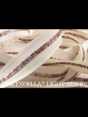 YKK Excella® Excella® Light #5 Summer '21 van de rol - (A2 - ivoor 841)