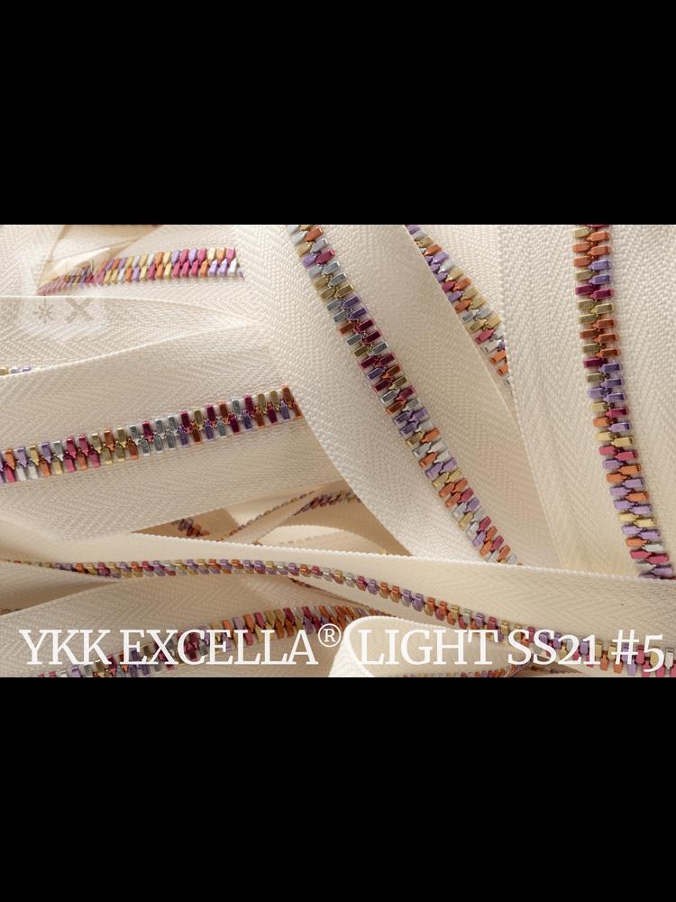YKK Excella® Excella® Light #5 Summer '21 van de rol - (Tape: ivoor 841)