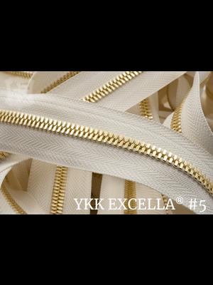 YKK Excella® Excella® #5 Goud van de rol - (A2 - Ivoor 841)