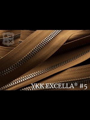 YKK Excella® Excella® #5 Oud-Goud van de rol - (C17: Cognac 859)