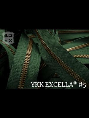 YKK Excella® Excella® #5 Oud-Goud van de rol - (F17: Groen 153)