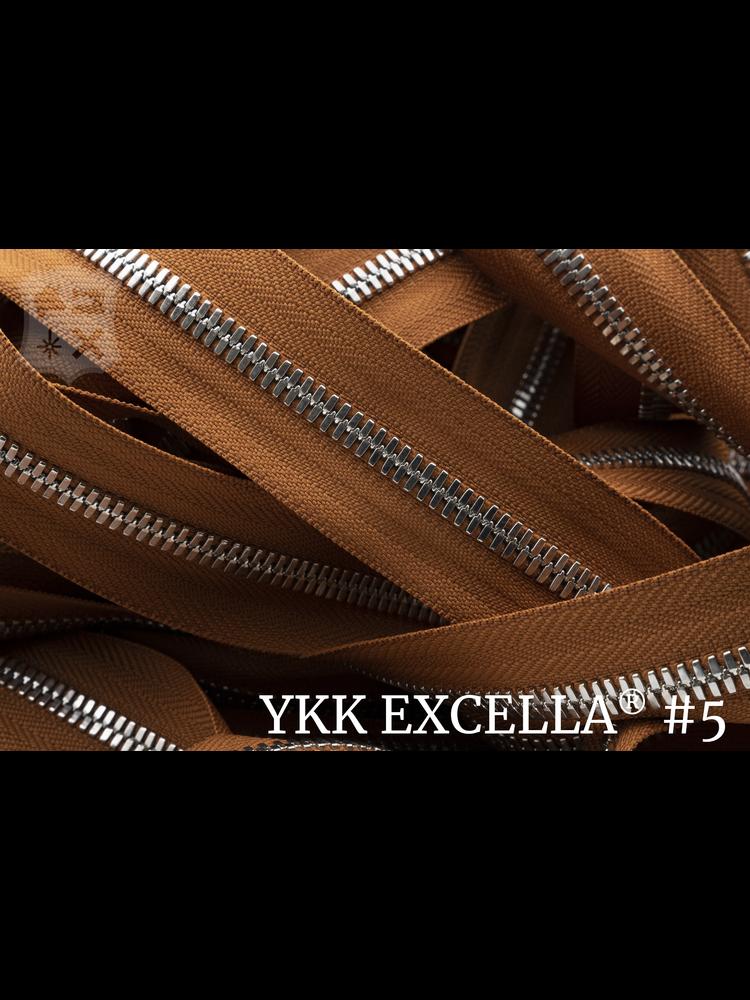 YKK Excella® Excella® #5 Zilver van de rol - (V11 - Honey 079)