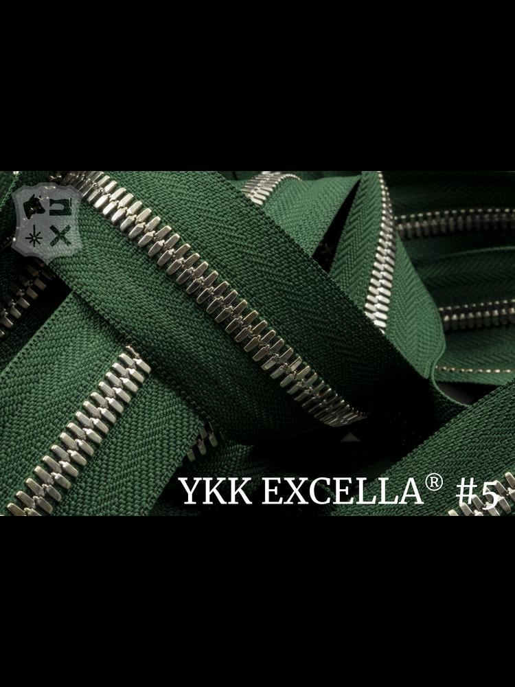 YKK Excella® Excella® #5 Zilver van de rol - (F17- Groen 153)