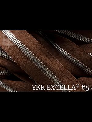 YKK Excella® Excella® #5 Zilver van de rol - (V16- Chestnut 331)