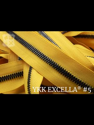YKK Excella® Excella® #5 Gunmetal van de rol - (B13 - Geel 001)