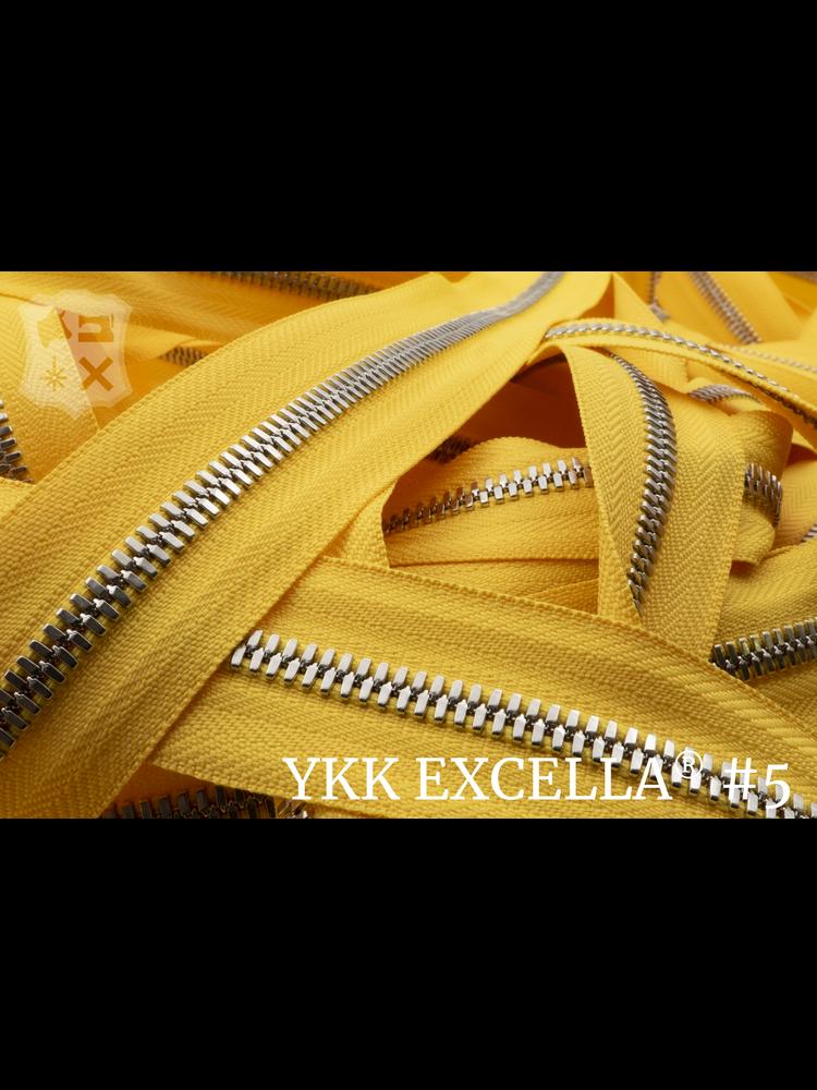 YKK Excella® Excella® #5 Zilver van de rol - (B13 - Geel 001)