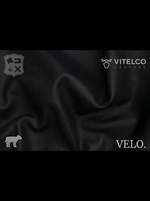 Vitelco Leather Black - Velo collectie: Kalfsleder met een pull-up