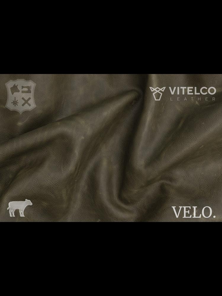 Vitelco Leather Olive - Velo collectie: Kalfsleder met een pull-up