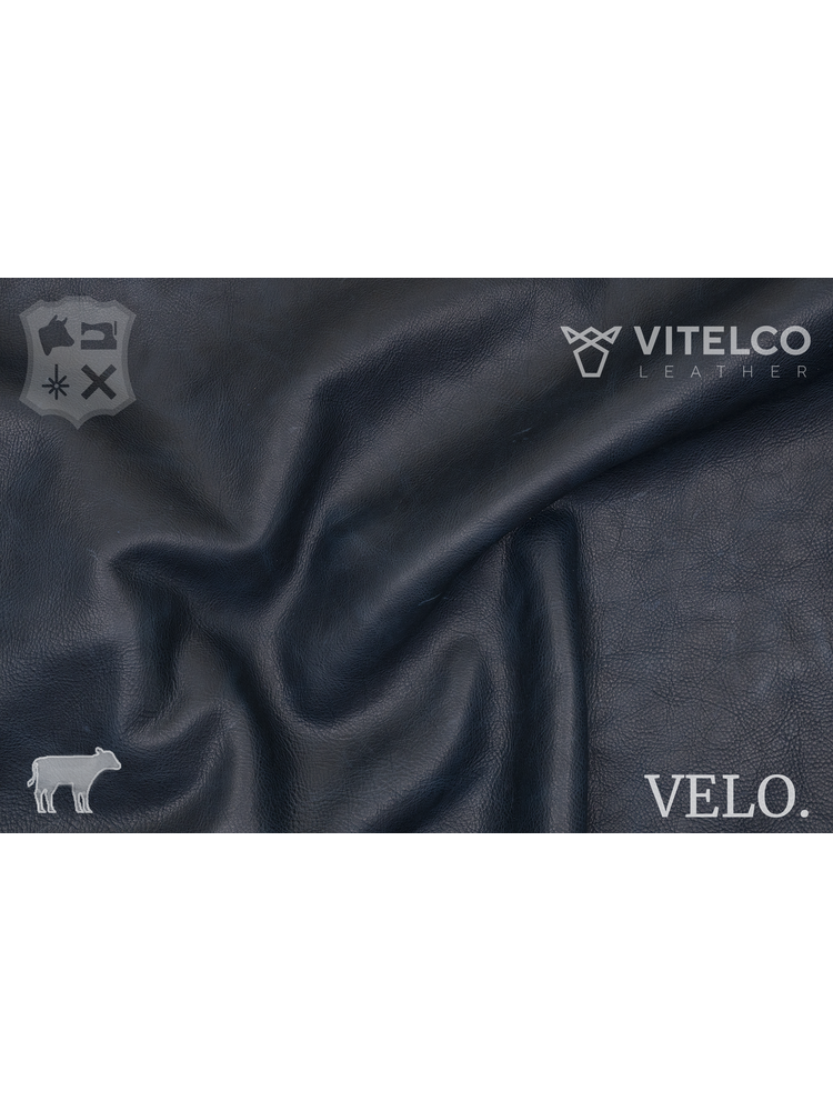 Vitelco Leather Navy - Velo collectie: Kalfsleder met een pull-up