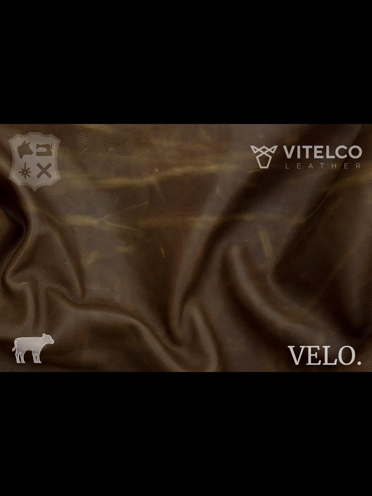 Vitelco Leather Cognac - Velo collectie: Kalfsleder met een pull-up