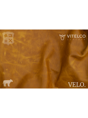 Vitelco Leather Camel - Velo collectie: Kalfsleder met een pull-up