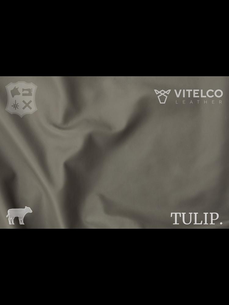 Vitelco Leather Mid Grey Grijs - Tulip collectie: Soepele kalfsleder met een rijke en zachte touch
