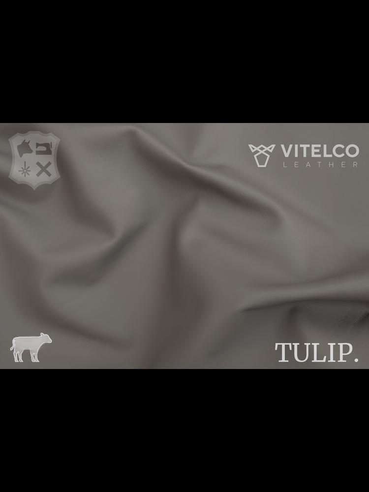 Vitelco Leather Clay Grey Grijs - Tulip collectie: Soepele kalfsleder met een rijke en zachte touch