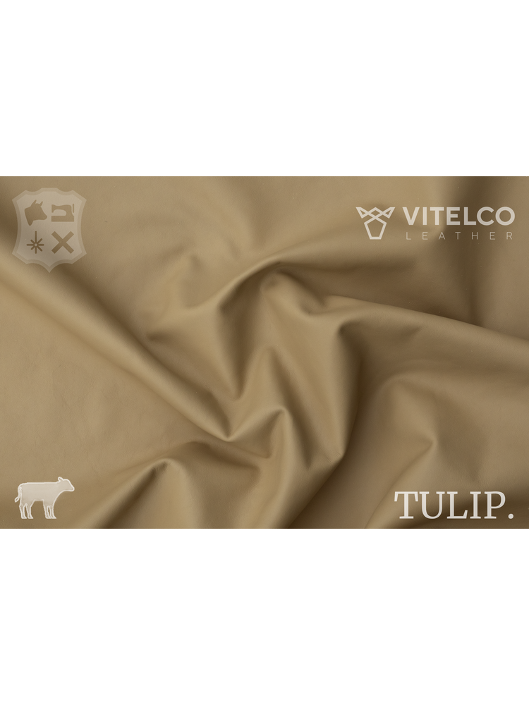 Vitelco Leather Beige - Tulip collectie: Soepele kalfsleder met een rijke en zachte touch