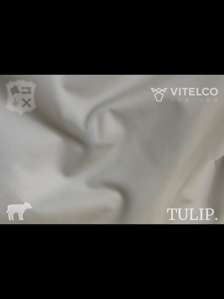 Vitelco Leather Pebble Gebroken Wit - Tulip collectie: Soepele kalfsleder met een rijke en zachte touch
