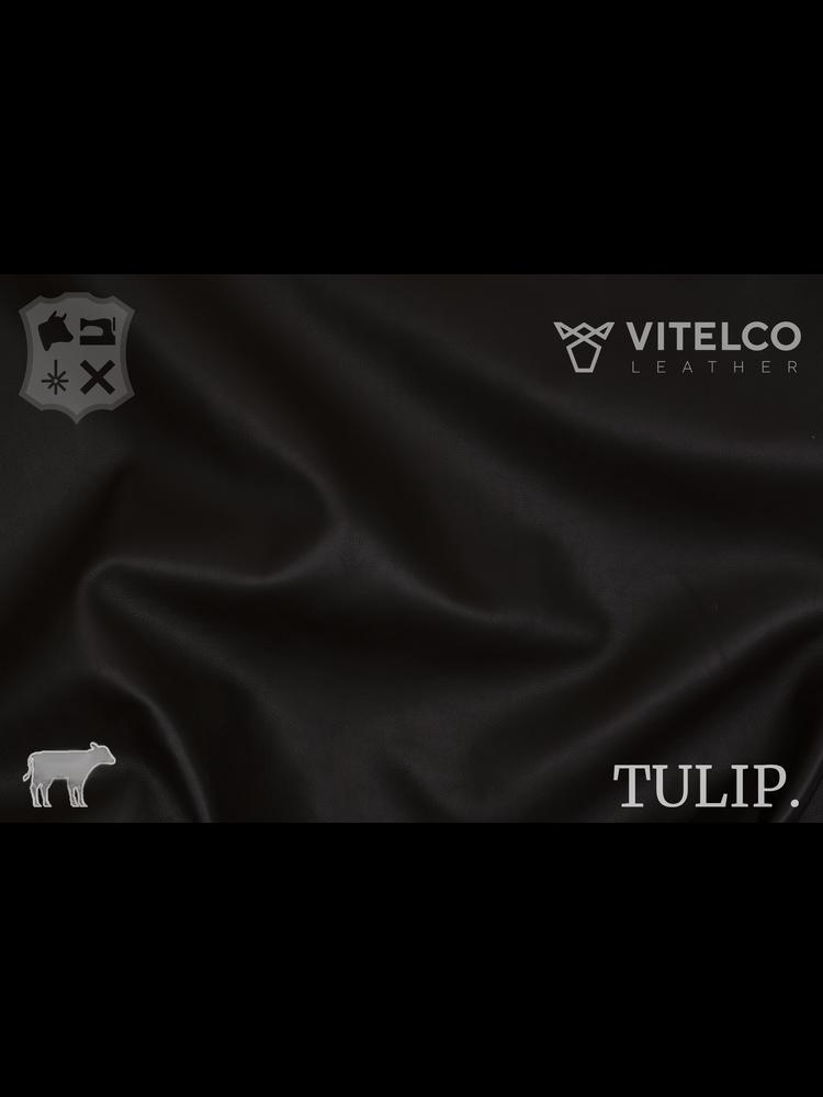 Vitelco Leather Moro Donkerbruin - Tulip collectie: Soepele kalfsleder met een rijke en zachte touch