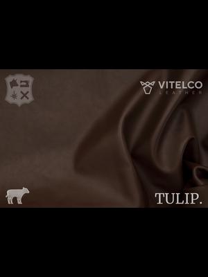 Vitelco Leather Tuscany Brown Bruin - Tulip collectie: Soepele kalfsleder met een rijke en zachte touch