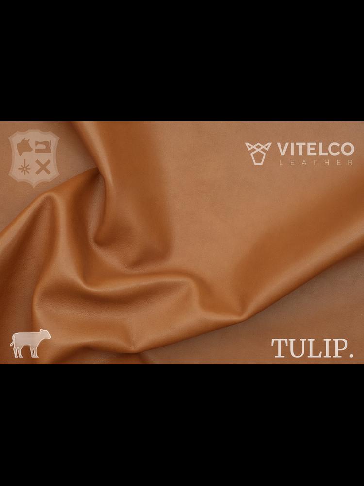 Vitelco Leather Nobly Brandy Cognac - Tulip collectie: Soepele kalfsleder met een rijke en zachte touch