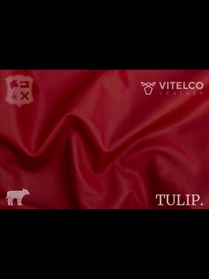 Vitelco Leather Scarlett Rood- Tulip collectie: Soepele kalfsleder met een rijke en zachte touch