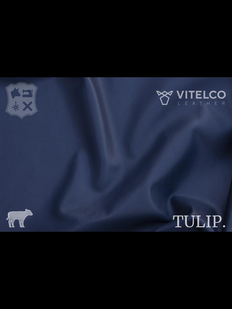 Vitelco Leather Jasper Blue blauw- Tulip collectie: Soepele kalfsleder met een rijke en zachte touch