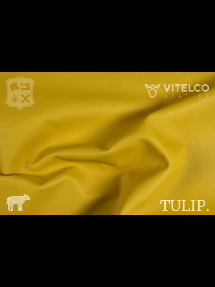 Vitelco Leather Ny Cab geel - Tulip collectie: Soepele kalfsleder met een rijke en zachte touch