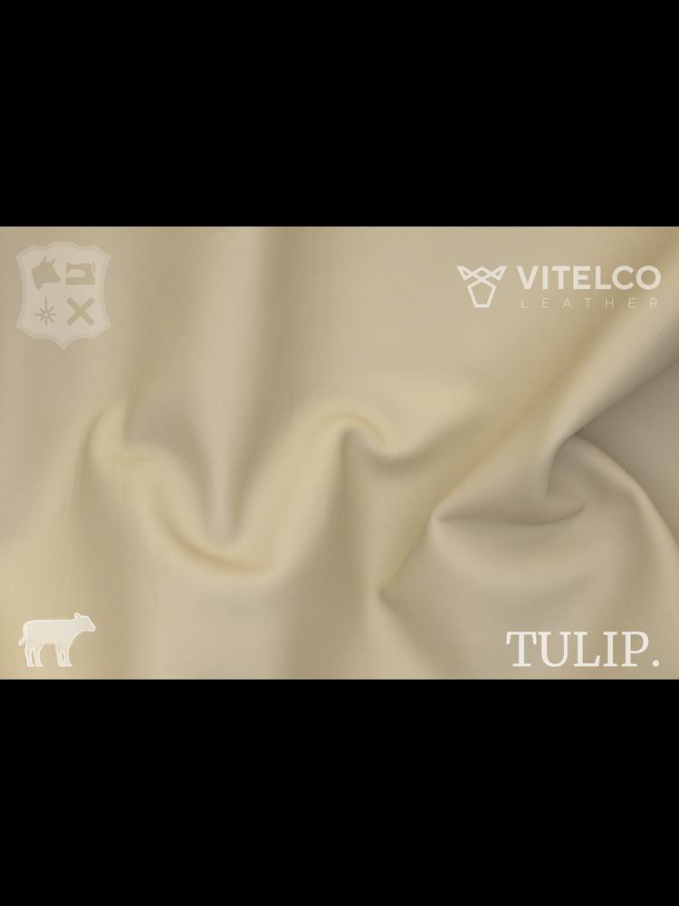 Vitelco Leather Ivory Ivoor - Tulip collectie: Soepele kalfsleder met een rijke en zachte touch