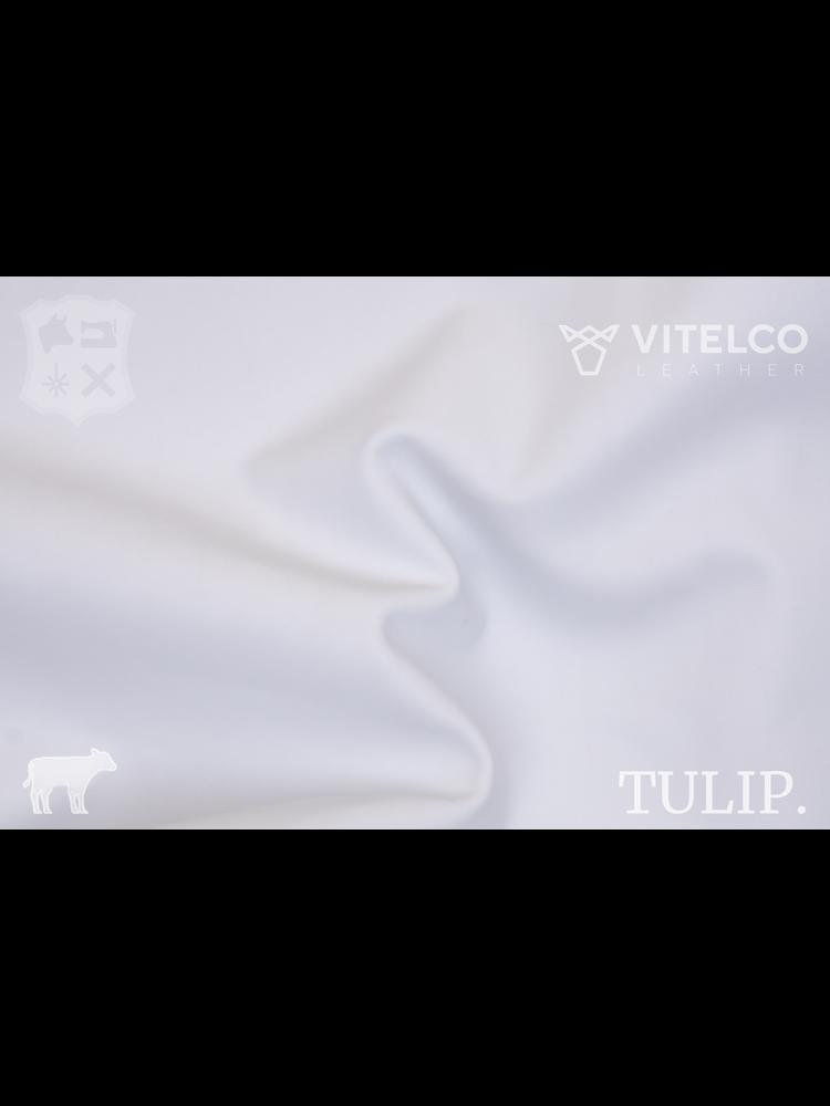 Vitelco Leather Bianco Wit - Tulip collectie: Soepele kalfsleder met een rijke en zachte touch