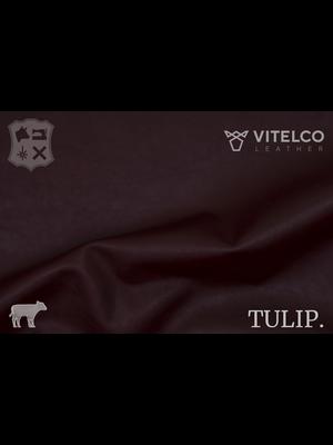 Vitelco Leather Oxblood - Tulip collectie: Soepele kalfsleder met een rijke en zachte touch