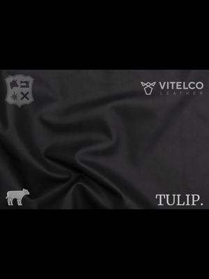 Vitelco Leather Black - Tulip collectie: Soepele kalfsleder met een rijke en zachte touch