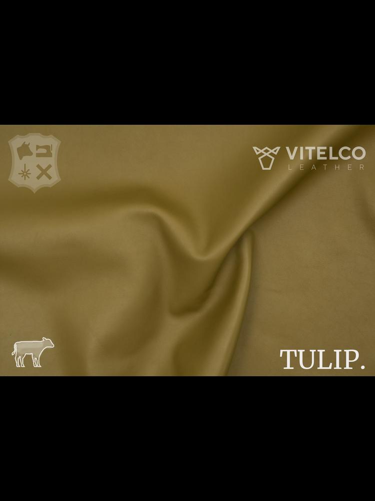 Vitelco Leather Olive groen - Tulip collectie: Soepele kalfsleder met een rijke en zachte touch