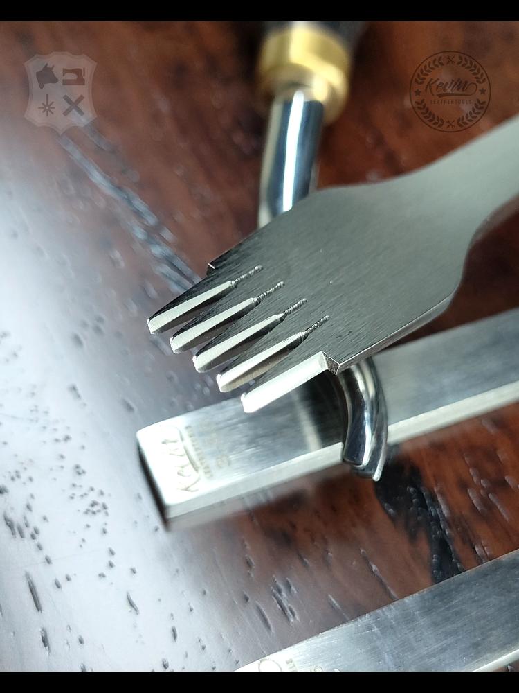 Kevin Lee Tools Basis Franse stijl Leervorken set  (Basic French Pricking Irons)