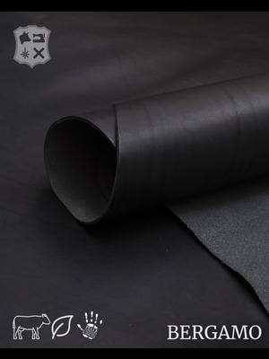 Bergamo Glad, zacht plantaardig gelooid tuigleder (ZA19: Black)