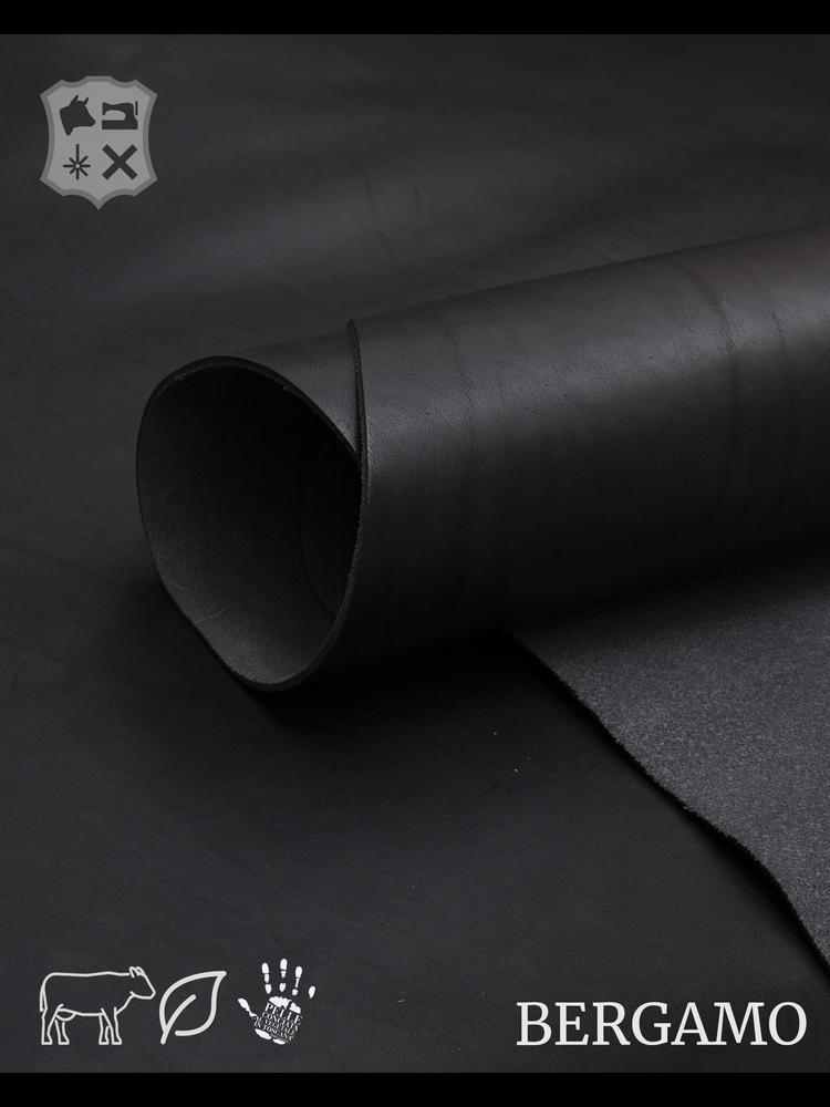 Bergamo Bergamo plantaardig gelooide tuigleder in Zwart - (ZA19: Black)