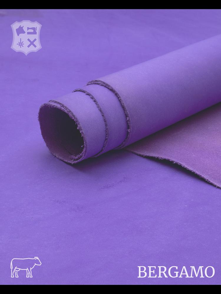 Bergamo Bergamo plantaardig gelooide tuigleder in Violet (A181: Pastel Violet)