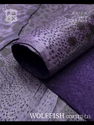 Nordic Fish Leather Gevlekte Zeewolf, gefinisht met zijdeglans (O11: Gna 862s)