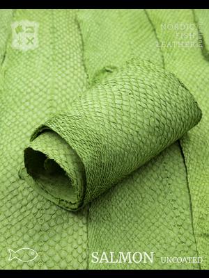 Nordic Fish Leather Visleer Zalm in de kleur Vor 984s (groen), niet gefinisht