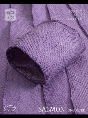 Nordic Fish Leather Visleer Zalm in de kleur Ilmur 998s (lila), niet gefinisht