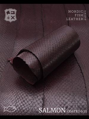 Nordic Fish Leather Zalm, gefinisht met zijdeglans, gesloten (Q19: Brenna 102s)