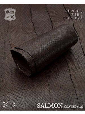 Nordic Fish Leather Zalm, gefinisht met zijdeglans, gesloten (W20: Börkur 918s)